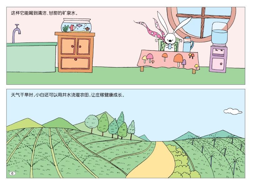 《小白的77间房子》   本书根据兔子天性爱打洞的特点,把全书的主体环境设置在地下洞穴里。这种特殊的环境是孩子们感兴趣并好奇的。以77间房子展开77个智力游戏题目,既能使表现内容丰富、又能使众多分散的题目、题型有机地组合在一个整体下,而且每一个题目都以自然存在的为设计依据如:绿色植物的生长需要阳光、各种衣服不同的功能、物品的分类、趣味数学游戏等。每个题目都有丰富的知识和浅显的道理,都有吸引孩子的趣味性在里边。   《小白的农场》   现代社会中,农场是都市孩子们最向往的一个地方。那里的一棵树、一